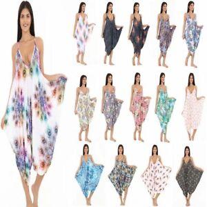 21008895f85 New Ladies Cami Lagenlook Romper Baggy Harem Jumpsuit Playsuit Dress ...