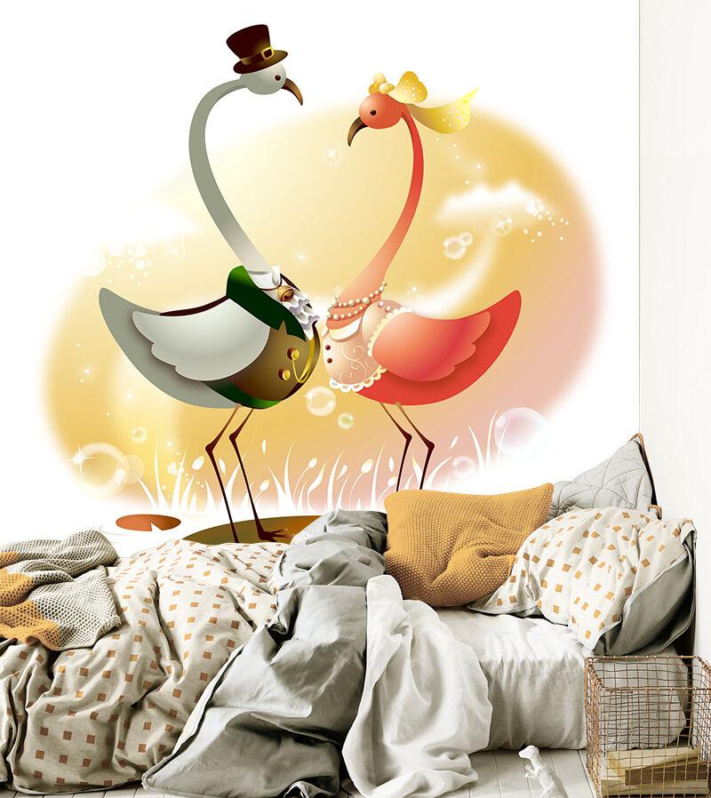 3D Cartoon Swan 834 Wallpaper Mural Paper Wall Print Wallpaper Murals UK