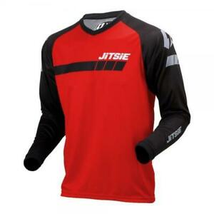 JITSIE-TRIZTAN-TRIALS-BIKE-RIDING-SHIRT-JERSEY-BLACK-RED-GREAT-QUALITY
