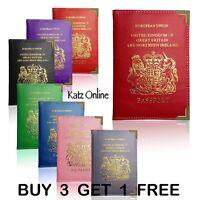 Katz UK & European British Passport Holder PU Leather Protector Cover Wallet B3