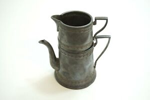 ANTIQUE-SILVERPLATE-SMALL-TEAPOT-COFFEE-POT-WITH-STACKING-CREAMER-CUP-HALLMARKED
