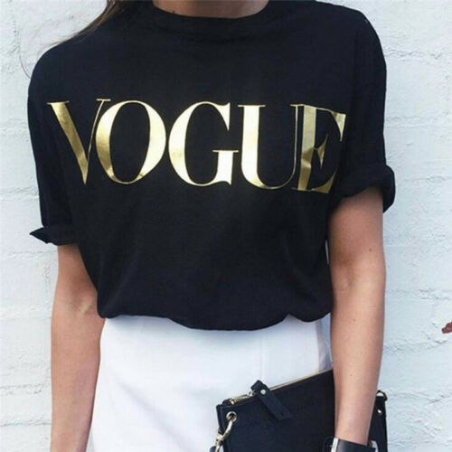 New Fashion t-Shirt Frauen Vogue Printed t-shirt Women Tops Tee ShirtYEG