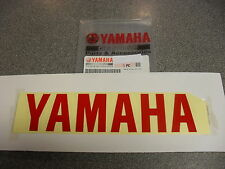 Genuine Yamaha Logo Emblema Adhesivo Pegatina Calcomanía en rojo 200MM X 50MM