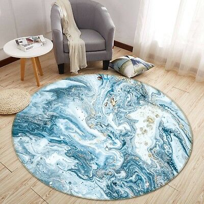 Abstract Ocean 9 Non Slip Rug Room