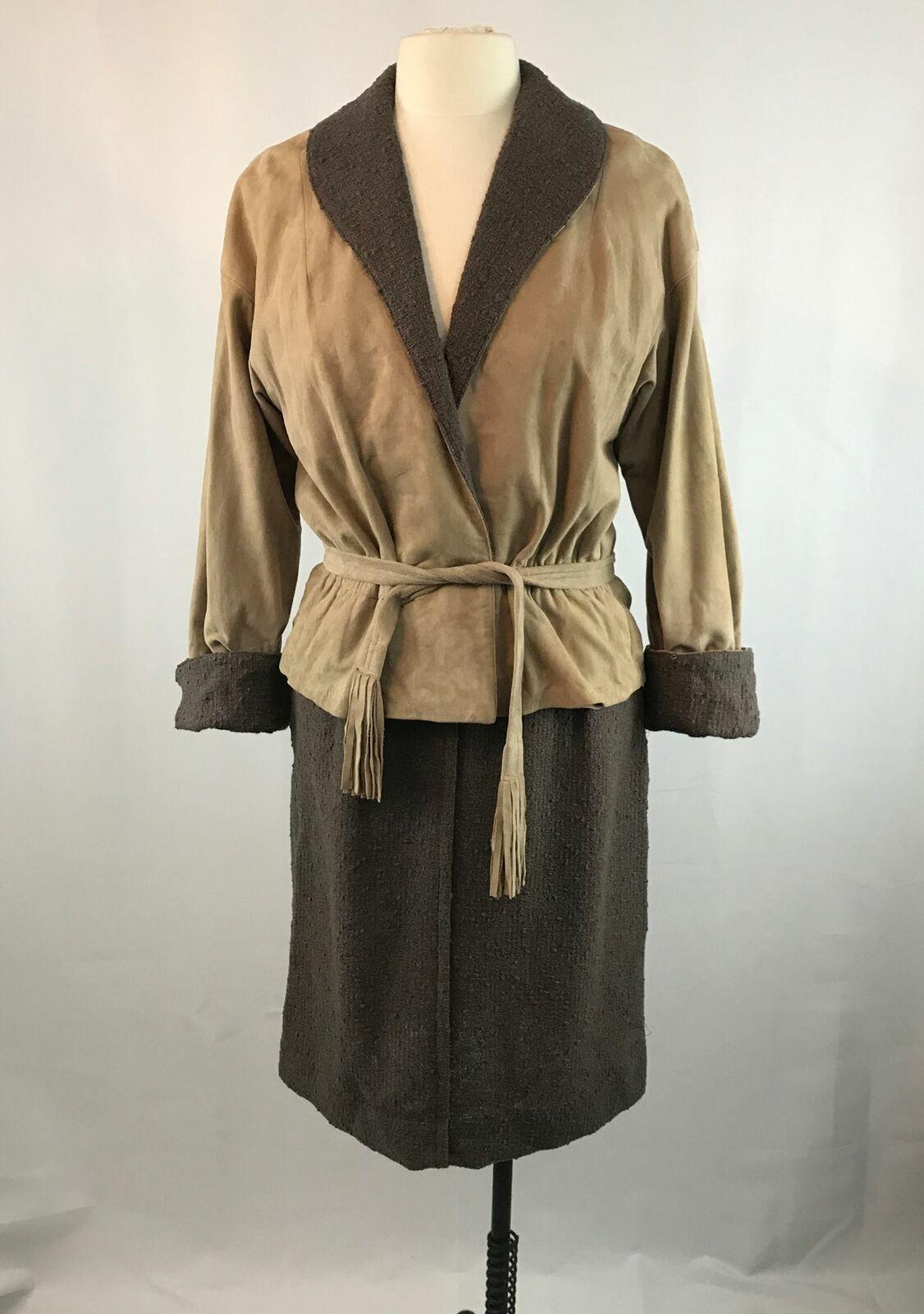 Vintage Bonnie Cashin Leather Jacket and Skirt Se… - image 1