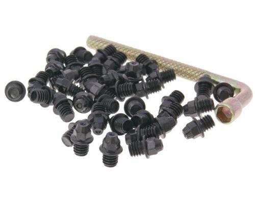 Vélo de montagne N 8 tive Pédale rechange conique Pin Set M4x4 40 X Noir PINS