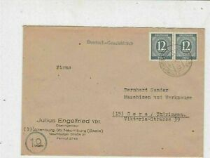 Germany Allied Occupation to Thuringia Naumburg Cancel Stamps Cover ref 23240