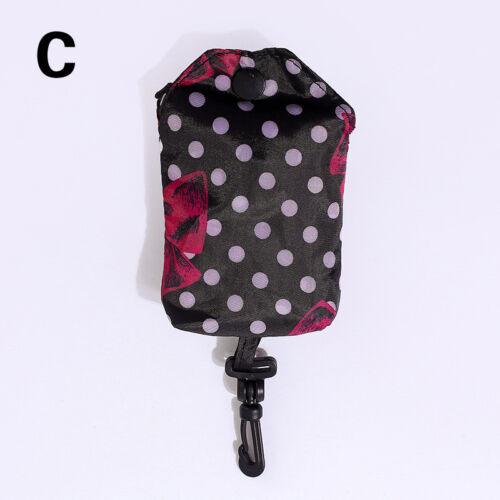 1pc Grocery Storage Handbag Foldable Key Chain Tote Pouch Reusable Shopping Bag