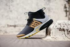 Nike Air Presto Utility UK Size 9 EUR 44 Mens Trainers Shoes Black White Gold