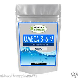 OMEGA-369-1000mg-Alta-Resistenza-Olio-di-Pesce-EPA-DHA-Organismi-meglio-Capsule-basso-prezzo