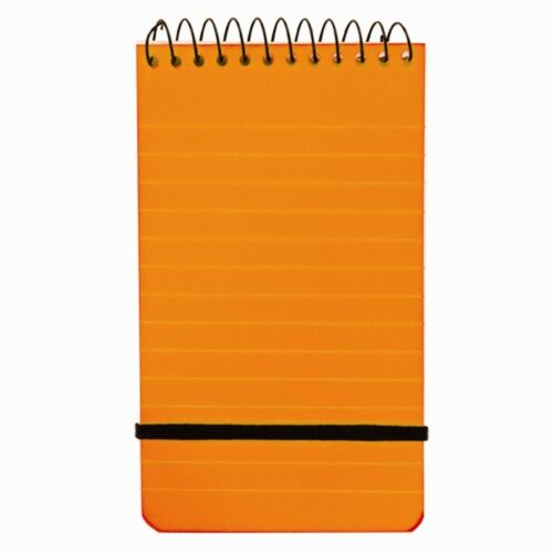 Note Pad Notebook x 5 Spiral Bound with Elastic Strap Neon Pads A6