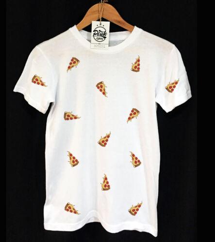 FAST FOOD UNISEX VINTAGE PEAK CLOTHING PIZZA PATTERN T-SHIRT SWAG