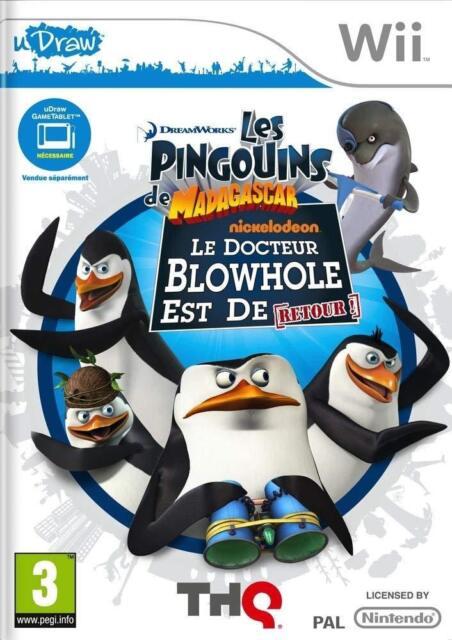 les pingouins de madagascar le docteur blowhole est de retour WII NEUF VF