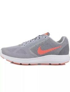 Amplificar pagar toma una foto  Nike Revolution 3 Running Womens Shoes 819303-002 Wolf Grey Hyper Orange SZ  11.5 | eBay