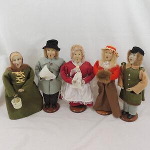 Vintage Christmas Caroler Figurines Lot Of 5 Set Holiday Collectible 12 Dolls Ebay