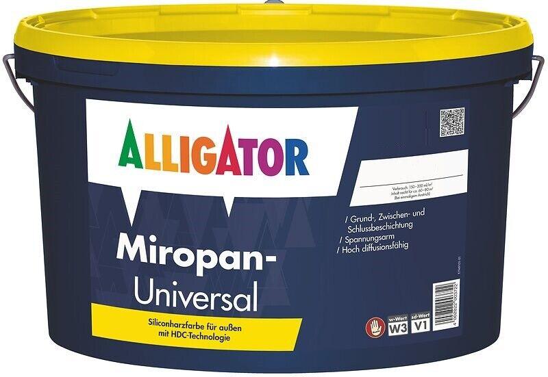 12x Alligator Miropan-Universal Fassadenfarbe 12,5 L -Siliconharz-Fassadenfarbe-