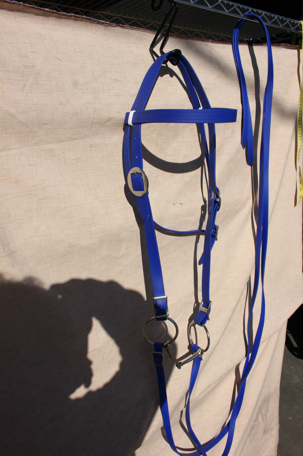 New  royal bluee Weaver softgrip draft horse riding bridle with reins and bit  sale online discount