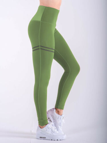 High Waist Fitness Leggings Womens Gym Workout Push Up Trousers Yoga Pants OP