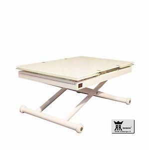 Tavolo saliscendi allungabile vetro tavolo tavolino salotto rr design jordan ebay - Tavolo saliscendi ...