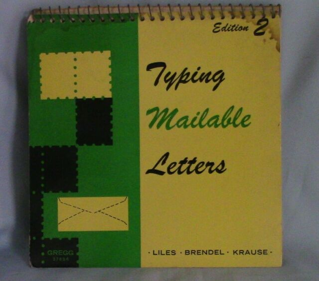 Vintage Typing Mailable Letters by Liles, Brendel & Krause 1969, Second Edition