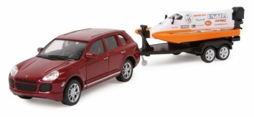 "PORSCHE CAYENNE CON speedboat Modello di auto /""Speed Set/"" 1:32"