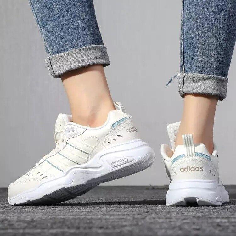 Adidas Damen Schuhe Turnschuhe Strutter Lifestyle Mode Leder Freizeit Neu EG2692