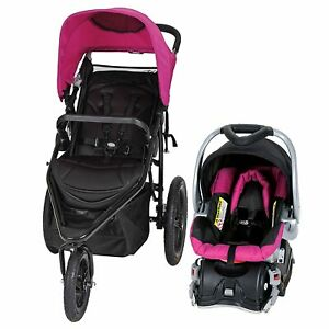 New Baby Trend Stealth Jogger Travel System Stroller Car ...