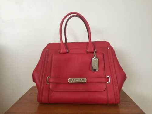 Coach Swagger Framed satchel in Red