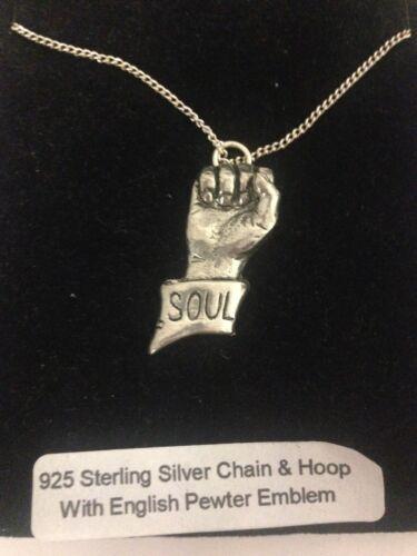 Soul Fist PP-C Emblem on a 925 Sterling Silver Necklace 16,18,20,26,30