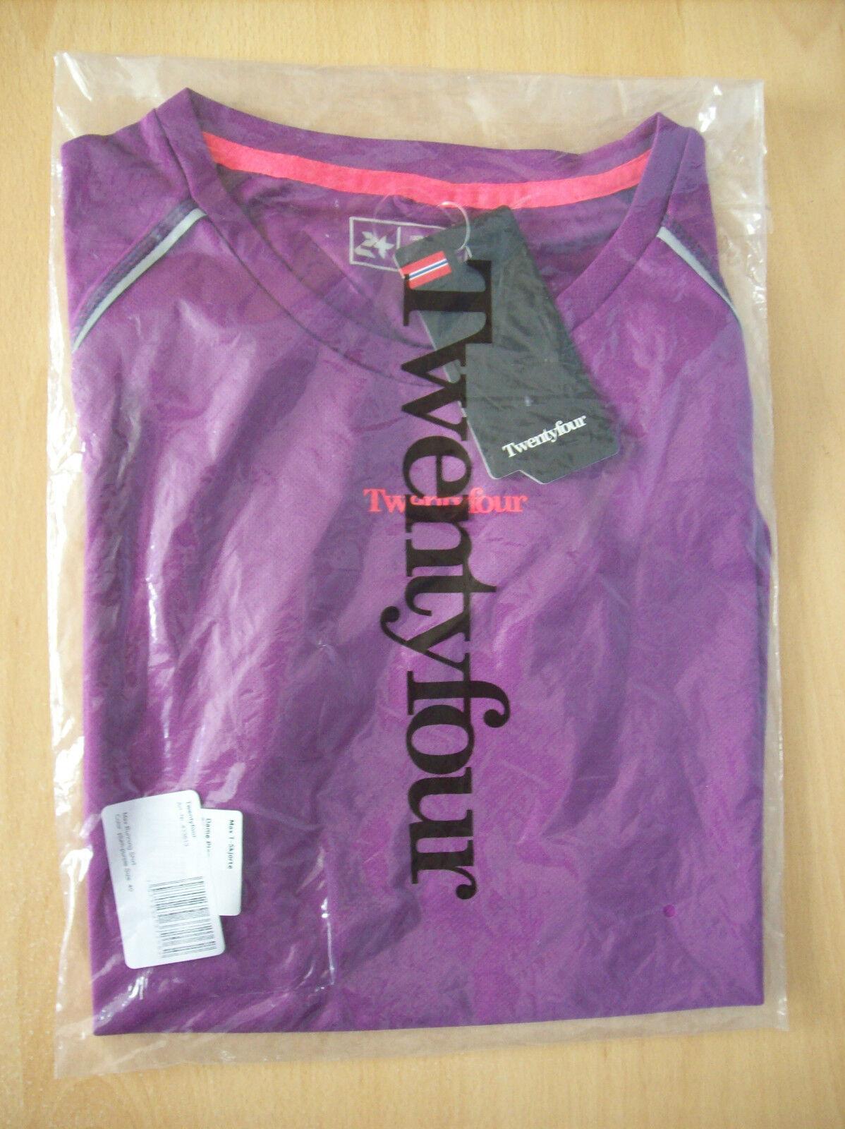 Shirt Ladies Twentyfour Max Running Shirt Plum Purple Size 40 New Sealed + Tags