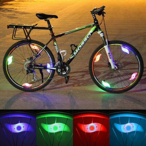 Colorful LED Tyre Wheel Light Lamp Bicycle Cycling Bright Flashing Lamp Decor ST