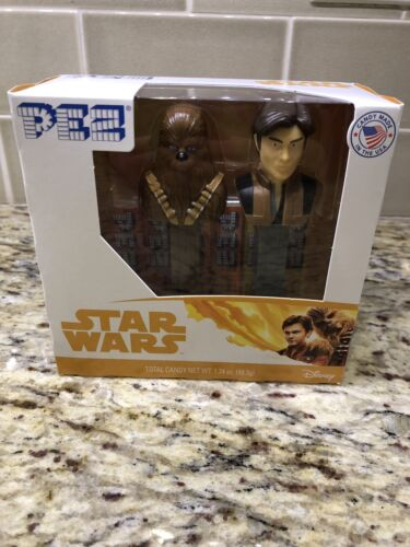 PEZ New 2018 Twin Pack Star Wars Han Solo And Chewbacca Dispenser