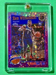 Zion Williamson PURPLE DISCO PRIZM RC PREMIUM STOCK 2019-20 NBA HOOPS ROOKIE