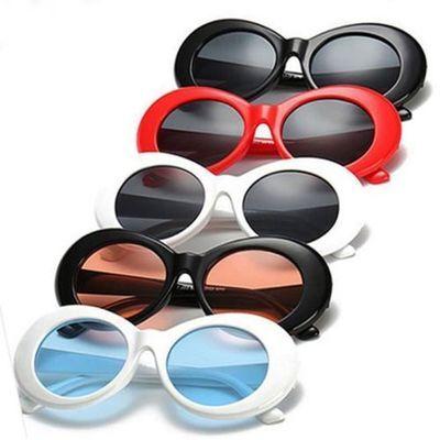 Unisex Clout Goggles Sunglasses Rapper Kurt Cobain Oval Shades Grunge Glasses
