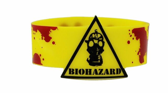 Biohazard Wristband Mask With Blood New Licensed Toys Gifts rwb-0049