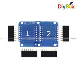 WeMos D1 Mini NodeMCU Double Socket Dual Base Shield for Arduino ESP8266 D