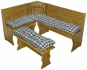 cushion set booth kitchen solid wood pad corner dining bench table