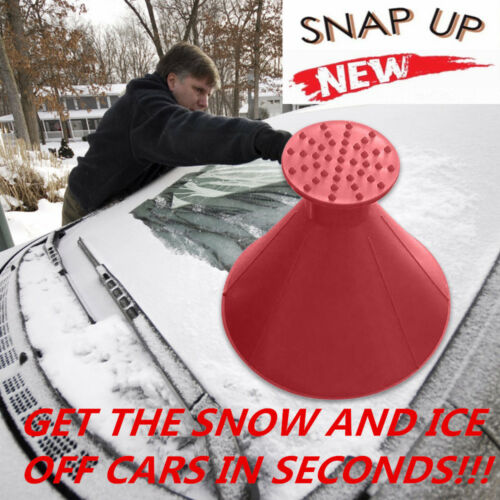 UK Car Windshield Ice Scraper Tool Cone Shaped Round Funnel Remover Snow GREAT!!