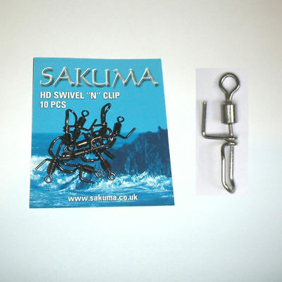 Sakuma Swivel /'N/' Clip Rig Components Size 5 Cascade Swivels 10 per pack