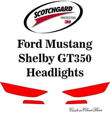 3M Scotchgard Paint Protection Film Pre-Cut 2016 2017 Ford Mustang Shelby GT350
