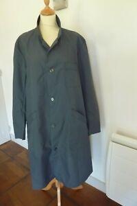 Blouse-de-Travail-grise-P-T-T-en-polyamide-F-Francaise-Vintage-Ref-261-03