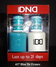 DND Daisy Soak Off Gel Polish Blue De France 437 full size 15ml LED/UV gel duo