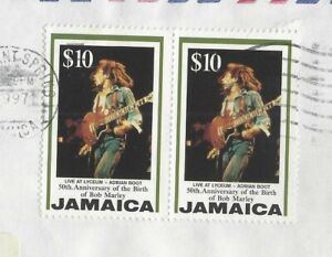 Jamaica-Bob-Marley-10-pair-on-cover-to-USA