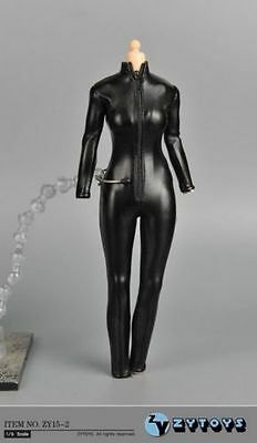 ZY TOYS 1/6  Leather Sexy skin-tight leather suit For Black widow Phicen