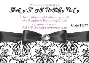 Details About Teenage Girl S Birthday Party Invitations Cards Any Age With Free Envelopes