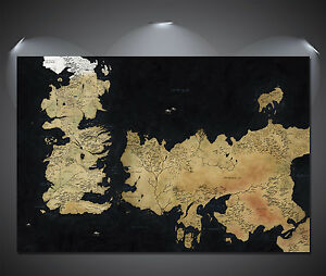 Game of thrones westeros map art large poster a0 a1 a2 a3 a4 image is loading game of thrones westeros map art large poster gumiabroncs