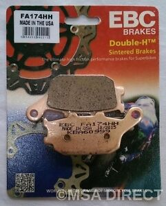 Yamaha FZ6 (2004 to 2009) EBC Double-H Sintered REAR Brake Pads (FA174HH) 1 Set