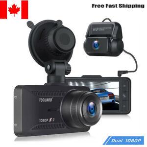 TOGUARD 1080P Car Dash Cam Dual Lens Front and Rear Camera IPS Recorder Camera