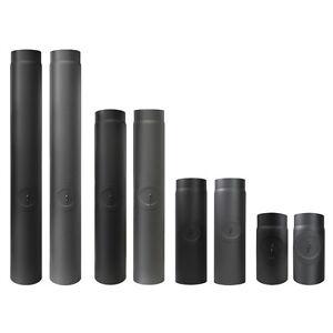 ofenrohr mit reinigung 120 200 mm grau schwarz abgasrohr kaminrohr rauchrohr ebay. Black Bedroom Furniture Sets. Home Design Ideas