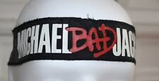 MICHAEL JACKSON : BANDANA STIRNBAND - BAD TOUR